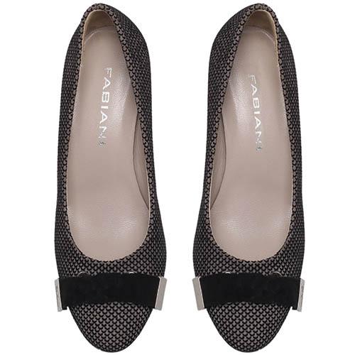 Туфли из замши коричневого цвета Giovani Fabiani на устойчивом каблуке, фото