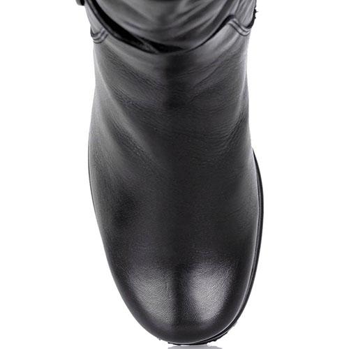 Кожаные сапоги Kelton со складками на голенище, фото