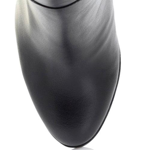 Сапоги-ботфорты Ginni из натуральной кожи черного цвета, фото