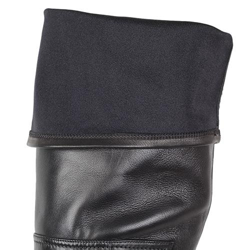 Демисезонные сапоги-ботфорты Nando Muzi из натуральной кожи на высоком каблуке, фото