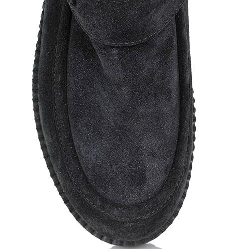 Зимние ботинки Nila&Nila из натуральной замши черного цвета, фото