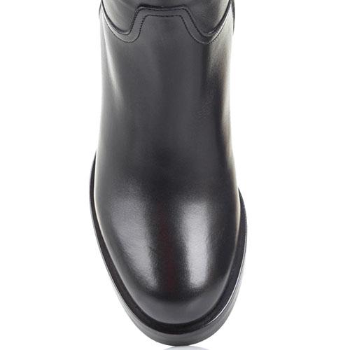 Зимние кожаные сапоги Bervicato короткие черного цвета, фото