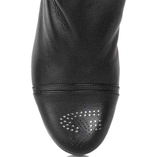 Зимние сапоги Guido Sgariglia из кожи со вставкой-резинкой на голенище, фото