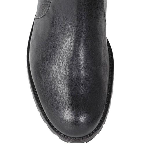 Сапоги-ботфорты Patrizia Pepe из натуральной мягкой кожи черного цвета, фото