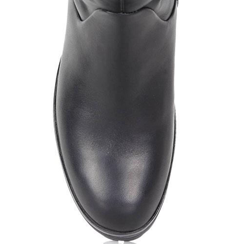 Зимние сапоги FABI из кожи черного цвета, фото