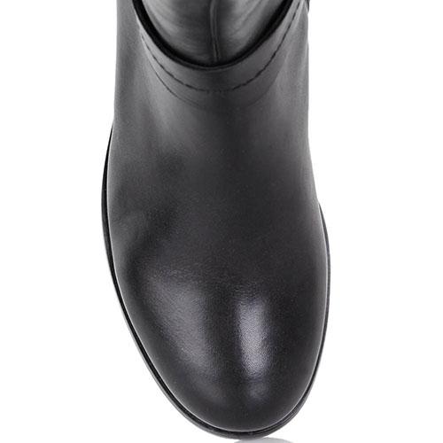 Сапоги-ботфорты Massimo Santini из мягкой кожи черного цвета, фото