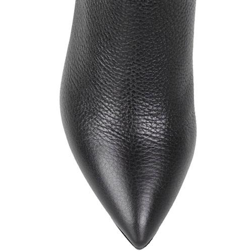Высокие кожаные сапоги The Seller с острым носочком, фото