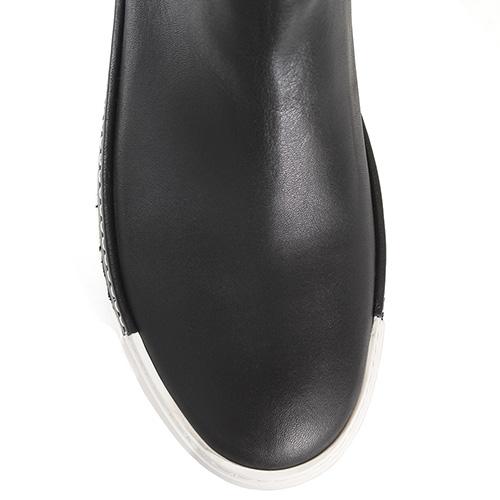 Утепленные ботфорты-чулки Vic Matie черного цвета, фото