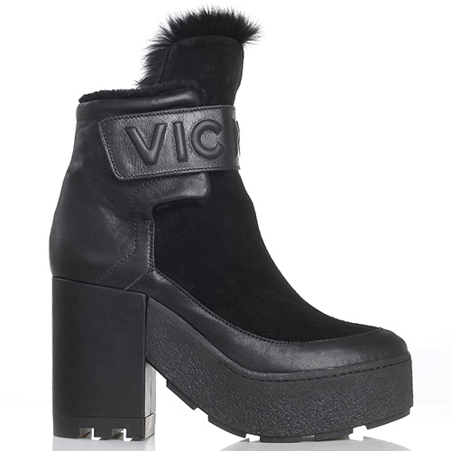 Высокие зимние ботинки Vic Matie черного цвета, фото