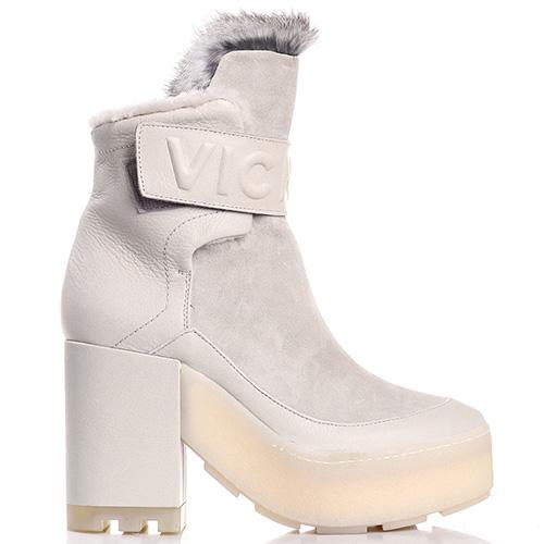 Высокие зимние ботинки Vic Matie бежевого цвета, фото