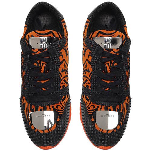 Замшевые кроссовки оранжевого цвета с резиновыми деталями Richmond, фото