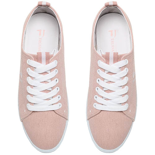 Кеды из текстиля розового цвета Trussardi Jeans, фото
