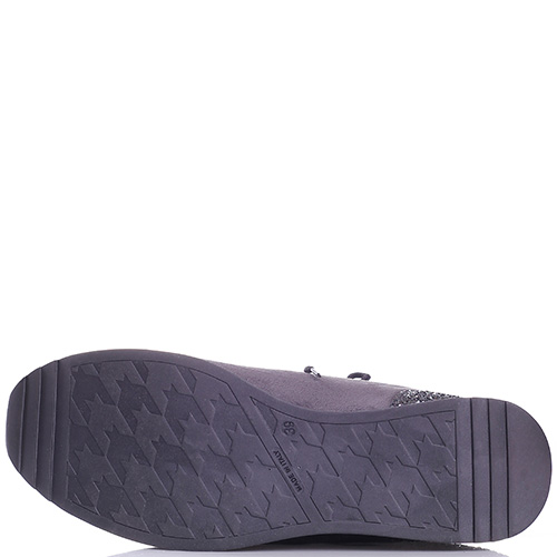 Серые кроссовки Trussardi Jeans со стразами на подошве, фото