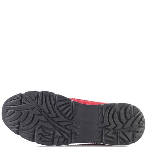 Красные кроссовки John Richmond без шнуровки со стразами, фото
