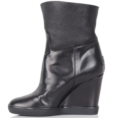 Кожаные ботинки Nando Muzi черного цвета на меху, фото