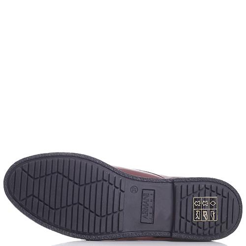 a9f93b74545a ☆ Лаковые туфли Armani Jeans бордового цвета hkv-925045 купить в ...