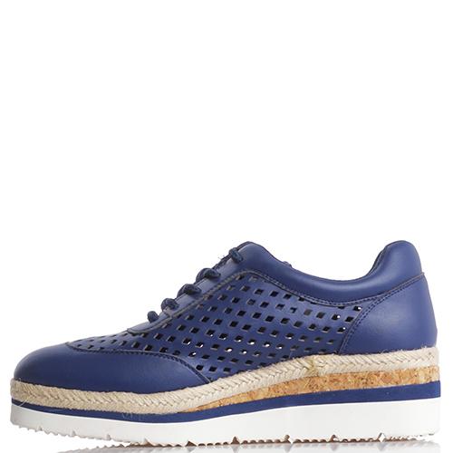 Синие эспадрильи Armani Jeans с перфорацией, фото