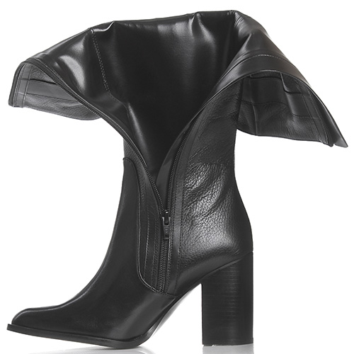 5abe5c73b845 ☆ Черные кожаные сапоги Armani Jeans с декоративной молнией hkv ...