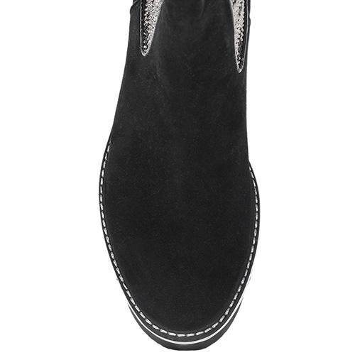Ботинки Trend BB из натуральной замши со вставкой-резинкой, фото