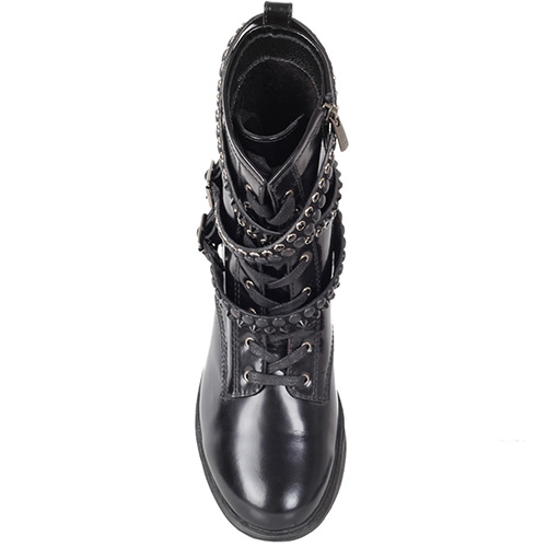 Ботинки Trend BB из натуральной полированной кожи с ремешками, фото