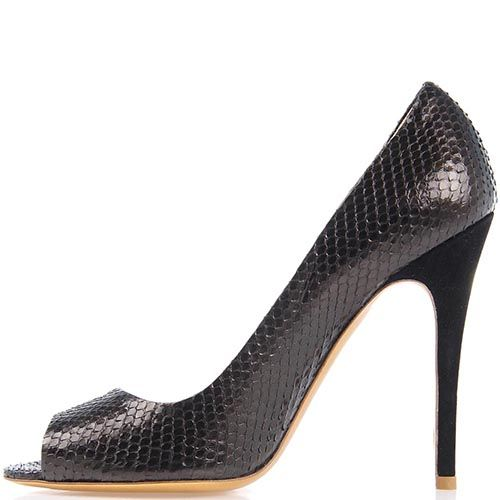 Туфли Giordano Torresi Ingrid Snake темно-коричневого цвета, фото