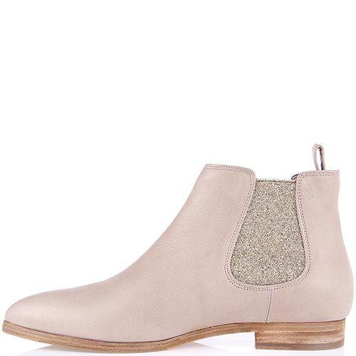 Женские ботинки The Seller Julie Dee из натуральной кожи бежевого цвета, фото