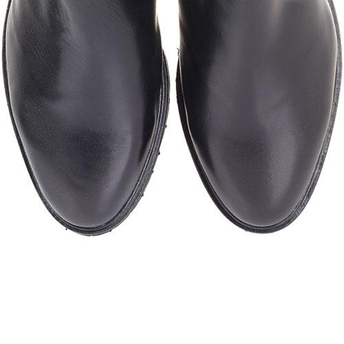 Кожаные зимние сапоги The Seller JD черного цвета на низком ходу, фото