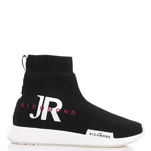 Черные кроссовки John Richmond без шнуровки, фото