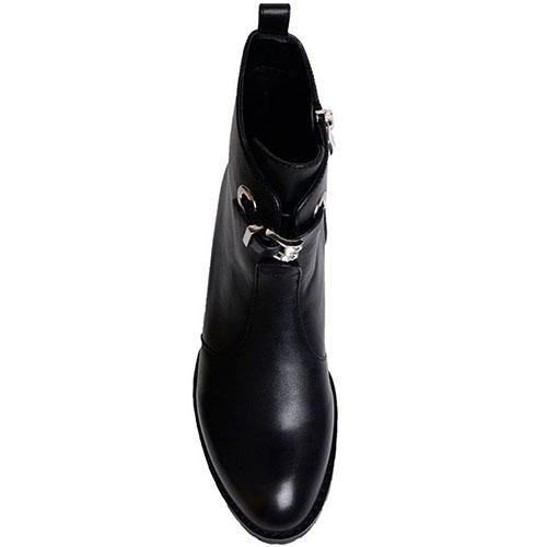 Кожаные ботинки Prego черного цвета, фото