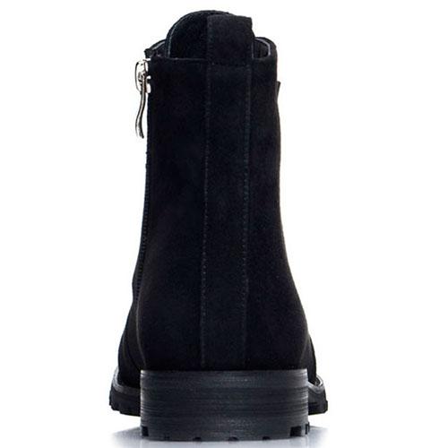 Замшевые ботинки Prego черного цвета, фото