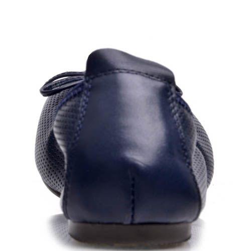 Балетки Prego синего цвета на резинке, фото