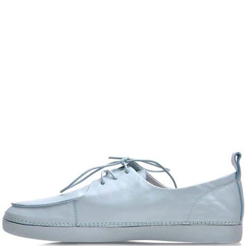 Туфли Prego кожаные голубого цвета, фото