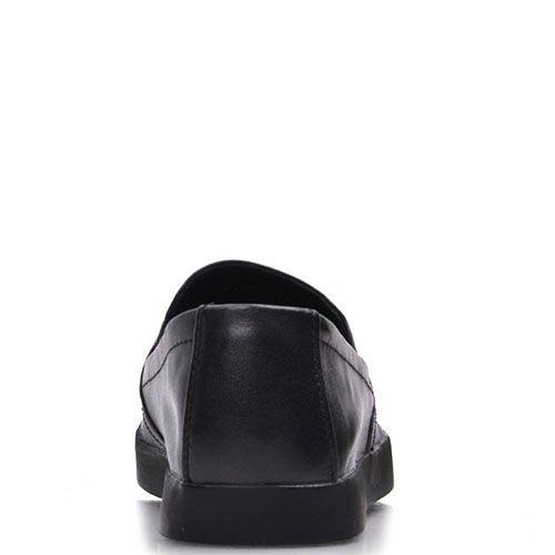 Слипоны Prego из натуральной кожи черного цвета, фото