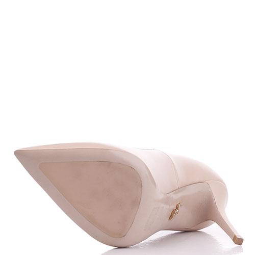 Бежевые туфли-лодочки Le Silla с острым носком, фото