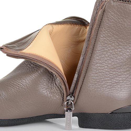 Ботинки Loriblu на низком каблуке серо-бежевого цвета, фото