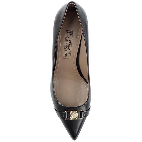 Туфли лодочки Versace Collection черные с металлическим декором, фото