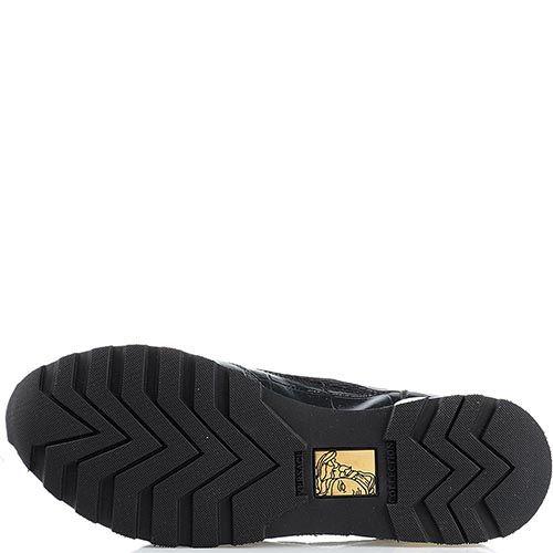 Кроссовки кожаные Versace Collection с металлическими вставками, фото