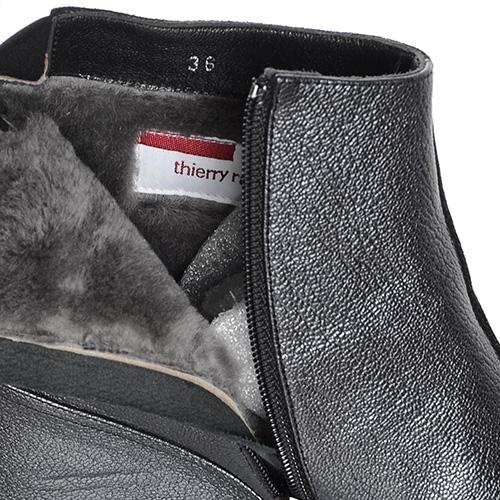 Зимние ботинки Thierry Rabotin из сочетания замши и кожи, фото