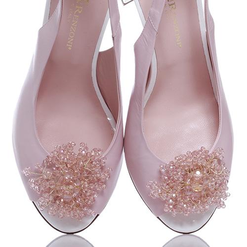 Розовые босоножки Ilasio Renzoni с декором-камнями, фото