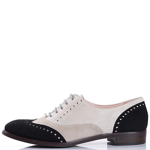 Туфли-броги Tine's из замши трех цветов, фото