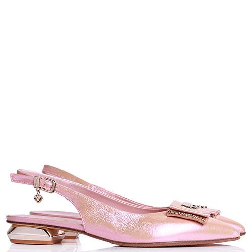 Туфли-слингбэки Ilasio Renzoni с декором на носке, фото
