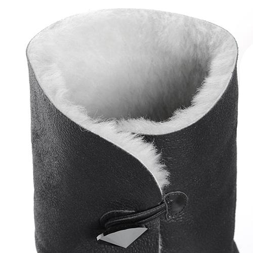 Зимние сапоги из черной кожи Nando Muzi на толстой подошве, фото
