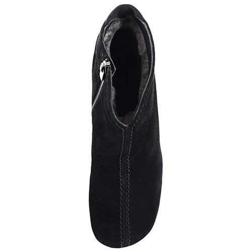 Черные замшевые ботинки на скрытой танкетке Thierry Rabotin, фото