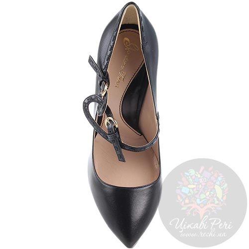 Туфли Giordano Torresi черные на фигурном каблуке, фото