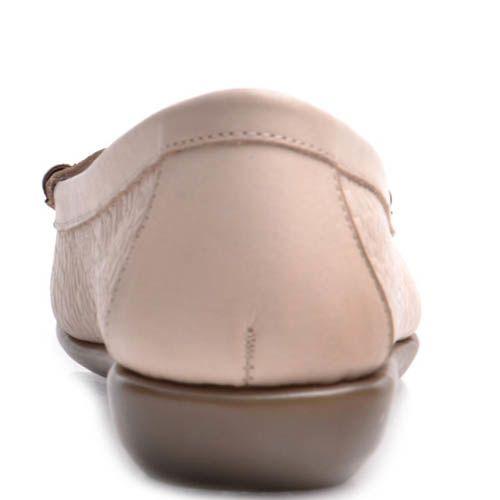 Мокасины Prego женские кожаные бежевого цвета, фото
