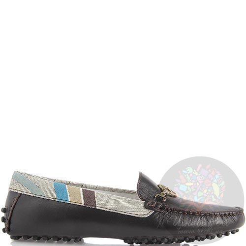 Мокасины Gattinoni из кожи темно-коричневого цвета, фото