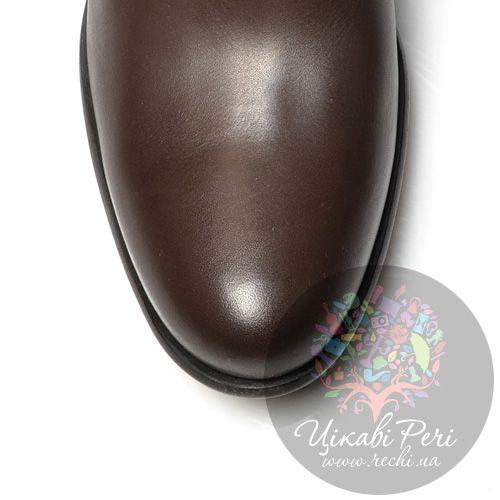 Сапоги Miu Miu коричневые из кожи и замши, фото