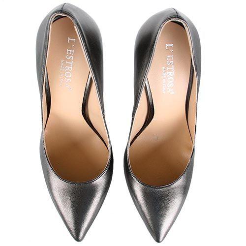 Туфли lEstrosa бронзового оттенка с каблуком шпилькой, фото
