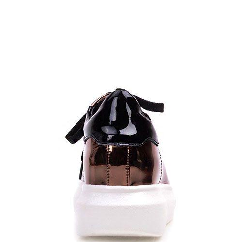Кроссовки Prego бронзового цвета на белой подошве, фото