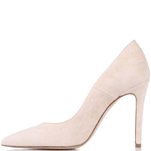 Замшевые туфли Bianca Di бежевого цвета, фото